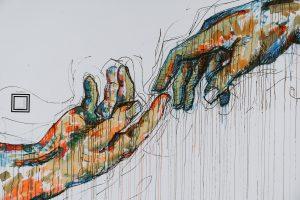 Crtež ruka u ruci